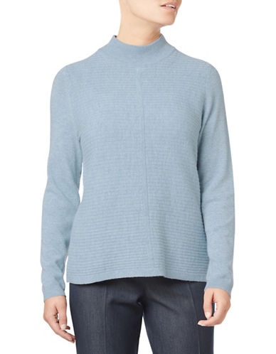 Eastex Striped Stitch Turtleneck Sweater-BLUE-UK 10/US 8