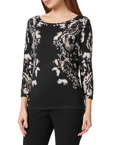 Precis Petite Winter Rose Jumper-BLACK-Small