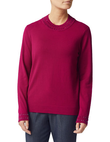 Eastex Beaded Neck Sweater-PINK-UK 12/US 10