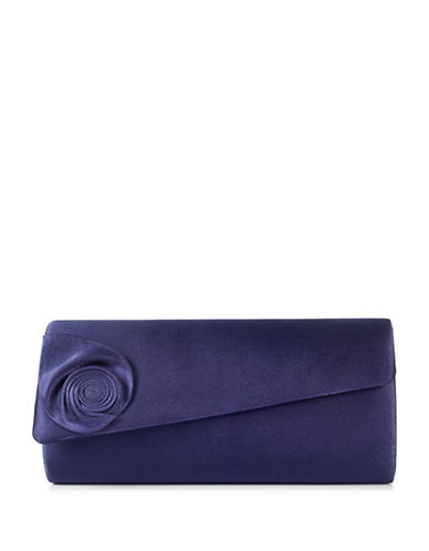 Jacques Vert Swirl Clutch-NAVY-One Size