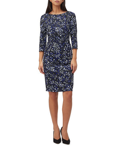 Precis Petite Abstract Animal-Print Sheath Dress-NAVY-UK 12/US 10