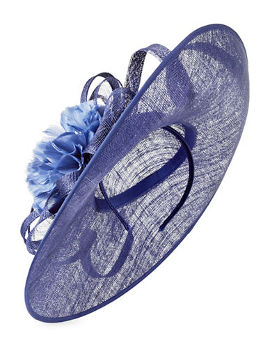Jacques Vert Large Floral Fascinator-NAVY-One Size