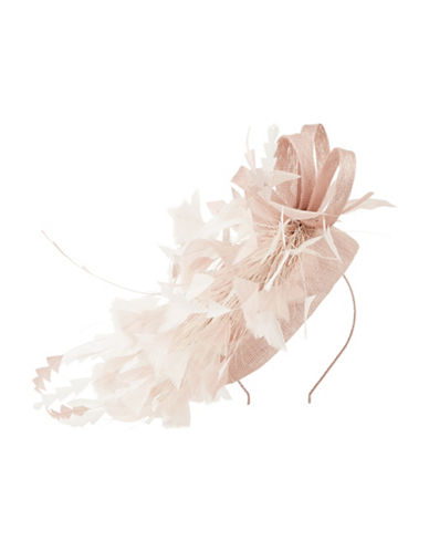 Jacques Vert Small Feather Fascinator-PINK-One Size