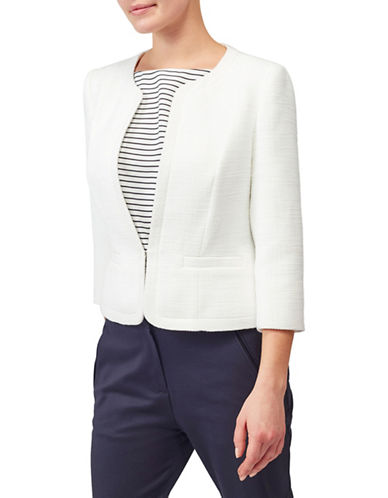 Precis Petite Bea Boucle Jacket-WHITE-UK 6/US 4