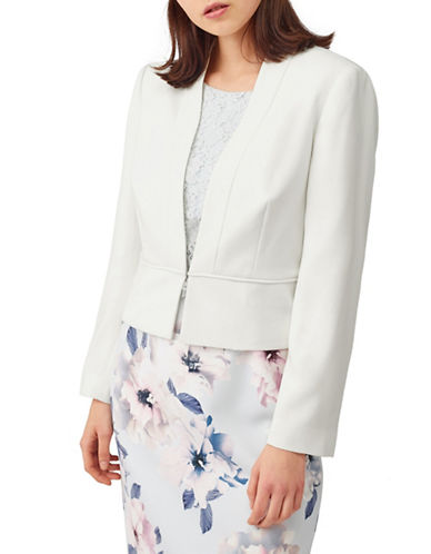 Precis Petite Zoe Edge To Edge Jacket-IVORY-UK 10/US 8