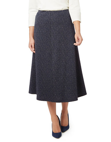 Eastex Classic Textured Fit-and-Flare Skirt-MID GREY-UK 16/US 14