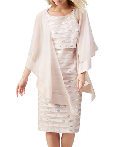 Jacques Vert Border Chiffon Wrap-NEUTRAL-One Size