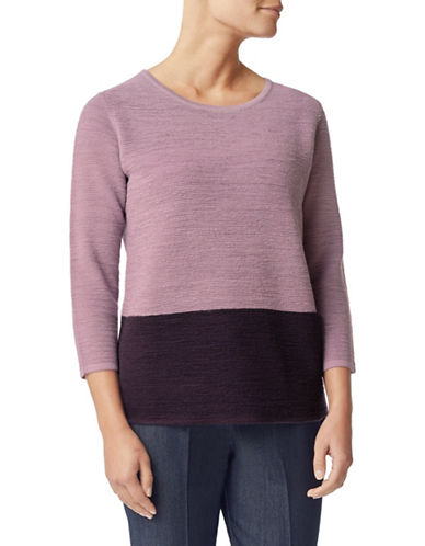 Eastex Colourblock Wool-Blend Jumper-PINK-UK 10/US 8