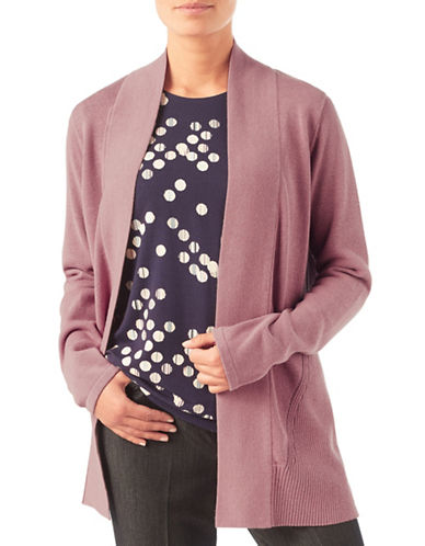 Eastex Mid-Length Open Front Cardigan-MID PINK-UK 20/US 18