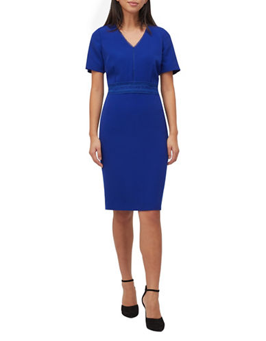 Precis Petite Petite Textured Shift Dress-BRIGHT BLUE-UK 8/US 6