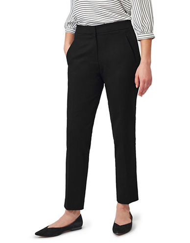 Precis Petite Slim Leg Trousers-NAVY-UK 16/US 14