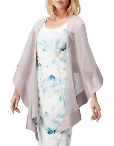 Jacques Vert Border Chiffon Coverup-MID GREY-One Size