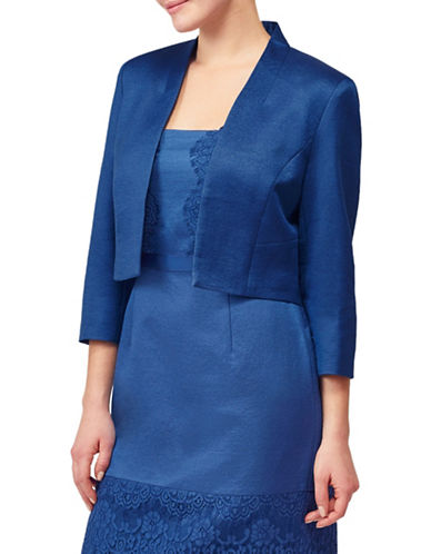 Precis Petite Shimmer Lace Jacket-NAVY-UK 16/US 14