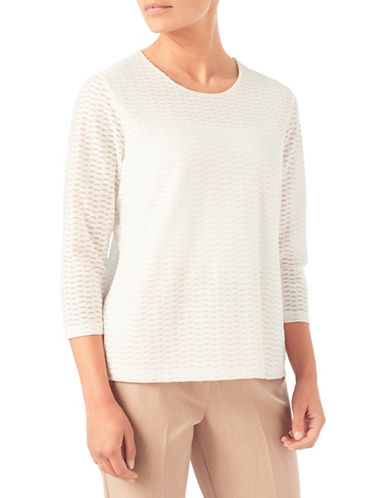 Eastex Texture Jersey Top-IVORY-UK 20/US 18