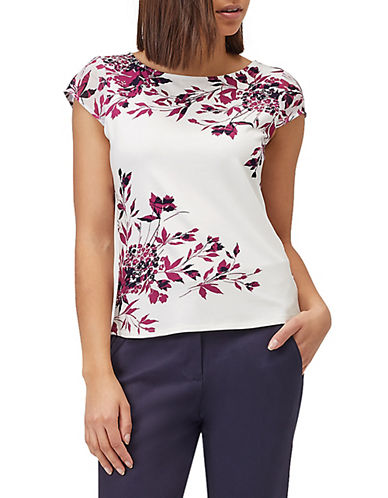 Precis Petite Shadow Leaf Tee-WHITE-Large 89927963_WHITE_Large