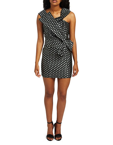 Missguided Two-Tone Dot Mini Dress-BLACK MULTI-UK 16/US 12
