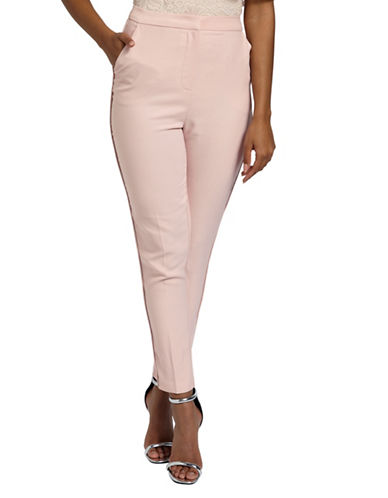 Missguided Slim-Fit Cigarette Trousers-BLUSH-UK 10/US 6
