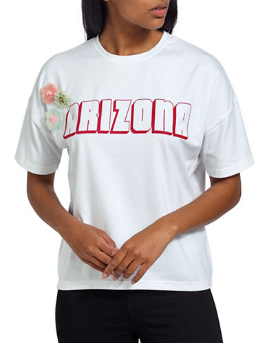 Missguided Arizona Sequined Tee-WHITE-UK 12/US 8