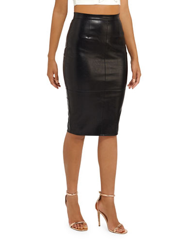 Missguided Classic Midi Skirt-BLACK-UK 16/US 12