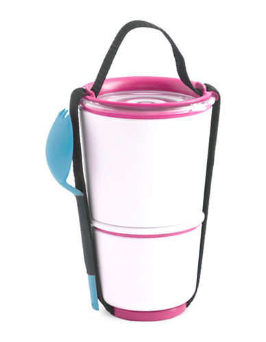 Black + Blum Lunch Pots with Strap-PINK-One Size