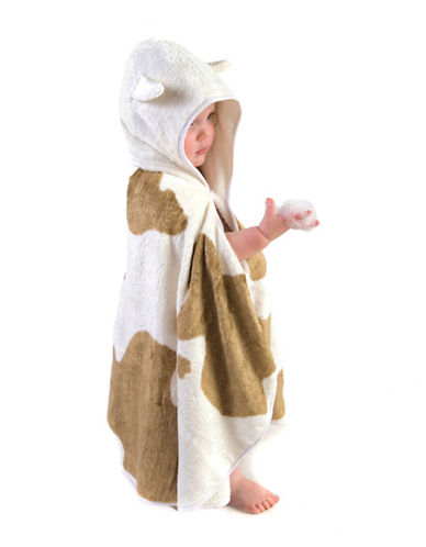 Cuddledry Cuddlemoo Toddler Dress-Up Towel-BEIGE/BROWN-One Size