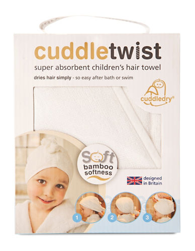 Cuddledry Cuddletwist Hair Towel-WHITE-One Size