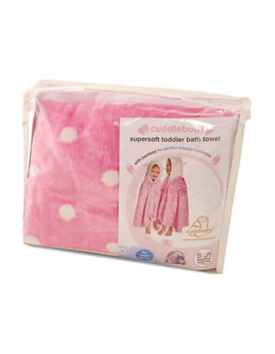 Cuddledry Cuddlebug Toddler Dress Up Towel-PINK/WHITE-One Size