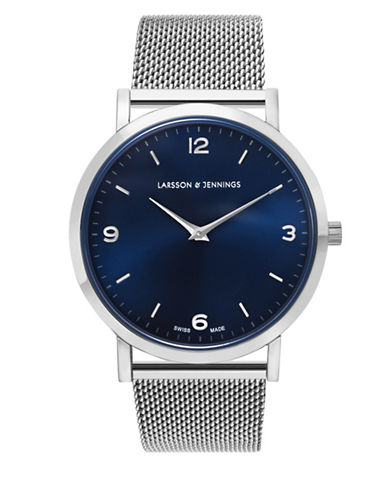 Larsson And Jennings Core Lugano Stainless Steel Mesh Bracelet  Watch-SILVER-One Size