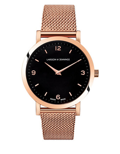 Larsson And Jennings Core Lugano 18K Rose Gold-Plated Stainless Steel Mesh Bracelet Watch-ROSE GOLD-One Size