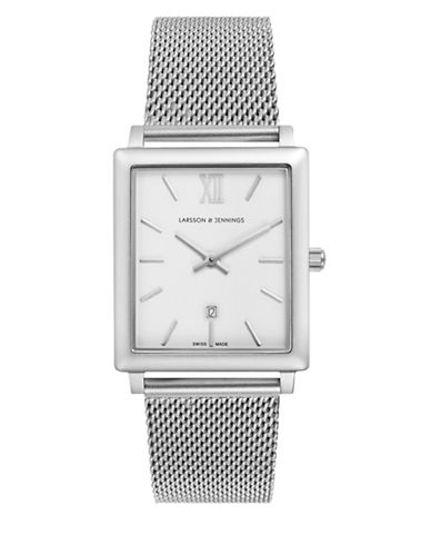 Larsson And Jennings Core Norse Stainless Steel Mesh Bracelet Watch-SILVER-One Size
