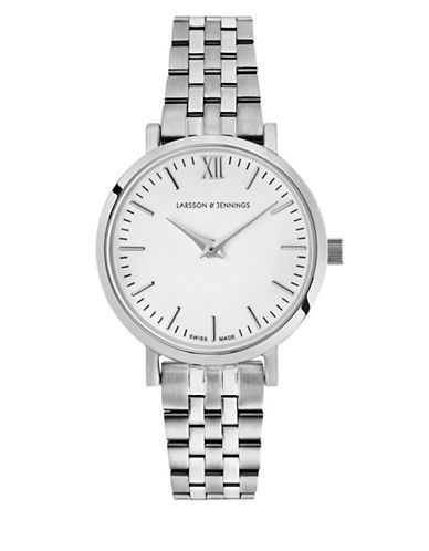 Larsson And Jennings Lugano Stainless Steel Link Bracelet Watch-SILVER-One Size