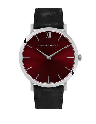 Larsson And Jennings Lugano Silver and Red Analog Watch-MULTI-One Size