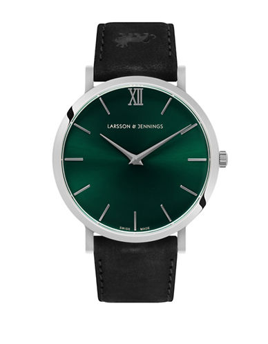 Larsson And Jennings Lugano Black and Green Analog Watch-MULTI-One Size