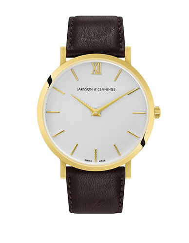 Larsson And Jennings Lugano Goldplated Analog Watch-GOLD-One Size