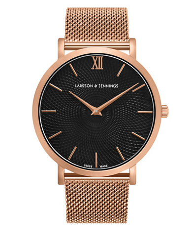 Larsson And Jennings 5th Anniversary Lugano 18K Rose Gold-Plated Stainless Steel Milanese Strap Watch-ROSE GOLD-One Size