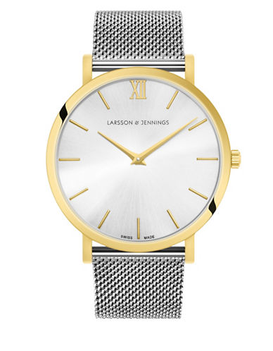 Larsson And Jennings 5th Anniversary Lugano 18K Gold-Plated Stainless Steel Milanese Strap Watch-MULTI-One Size