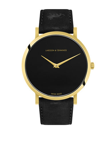 Larsson And Jennings Lugano Black Analog Watch-BLACK-One Size