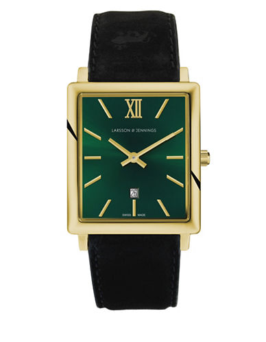 Larsson And Jennings Norse Gold Rectangle Case Analog Watch-MULTI-One Size