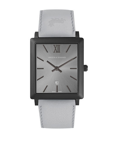 Larsson And Jennings Norse Black and Grey Analog Watch-SILVER-One Size