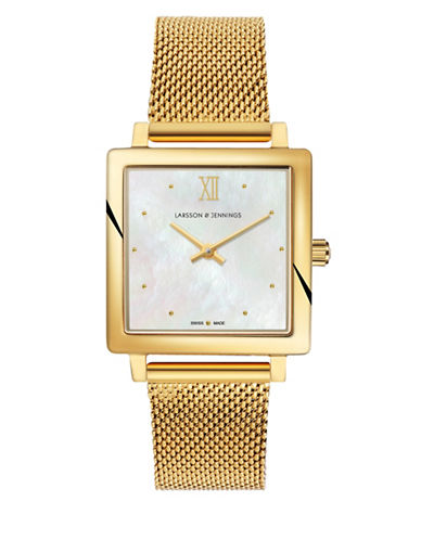 Larsson And Jennings Norse Goldtone Analog Watch-GOLD-One Size