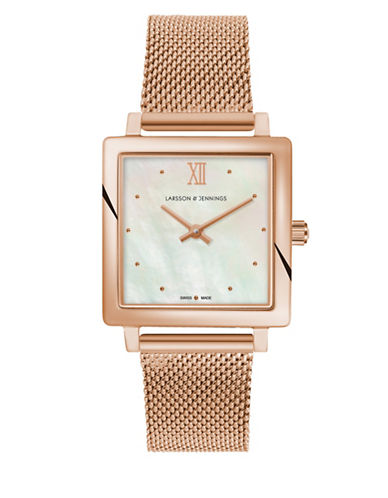 Larsson And Jennings Norse Rose-Goldtone Analog Watch-ROSE GOLD-One Size