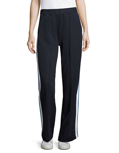 Etre Cecile Striped Track Pants-BLUE-Large