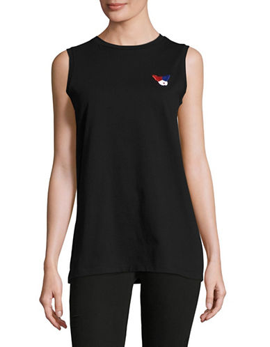 Etre Cecile Classic Oversized Tank-BLACK-Medium