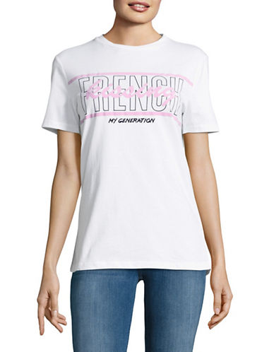 Etre Cecile French Kissing T-Shirt-WHITE-Small