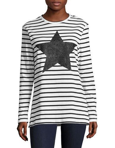 Etre Cecile Star Print T-Shirt-BLACK MULTI-X-Small