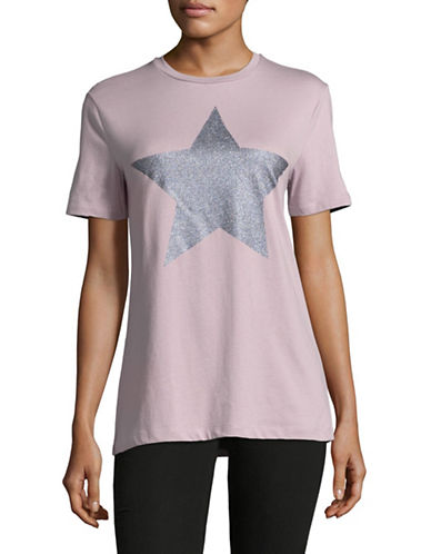 Etre Cecile Sparkling Star T-Shirt-PURPLE-Medium