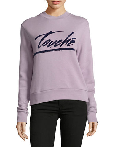 Etre Cecile Touche Sweatshirt-PURPLE-Small
