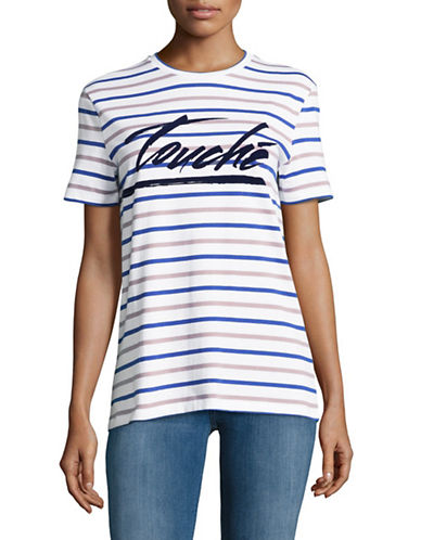 Etre Cecile Touche T-Shirt-BLUE MULTI-X-Small