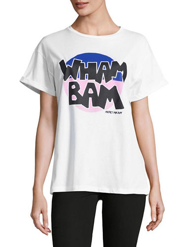 Etre Cecile Wham Bam Oversized T-Shirt-WHITE-Small