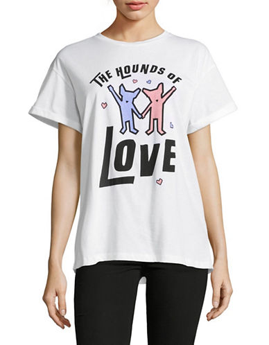 Etre Cecile Hounds of Love Cotton Tee-WHITE-Small